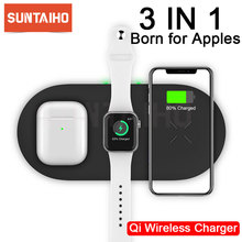 Suntaiho 3 in 1 Qi Wireless Charger For Airpods Apple Watch