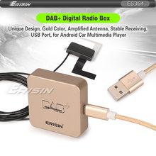 364 antena antena amplificada externo dab rádio digital + caixa para android 8.1/9.0/10.0 jogador de rádio do carro