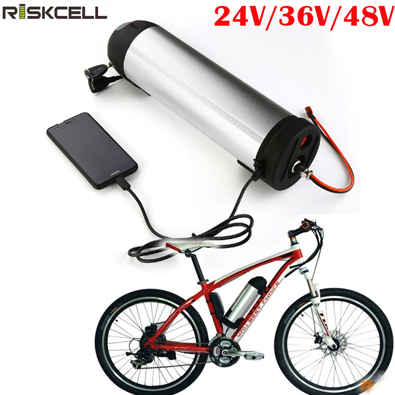 24V 17.5Ah Ebike Battery Seat Post Frog Style Lithium Ion for 300W Electric Bike
