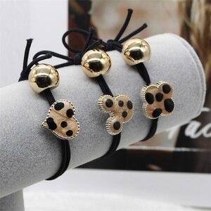 Женские резинки для волос, 2 шт., Модные леопардовые резинки для волос