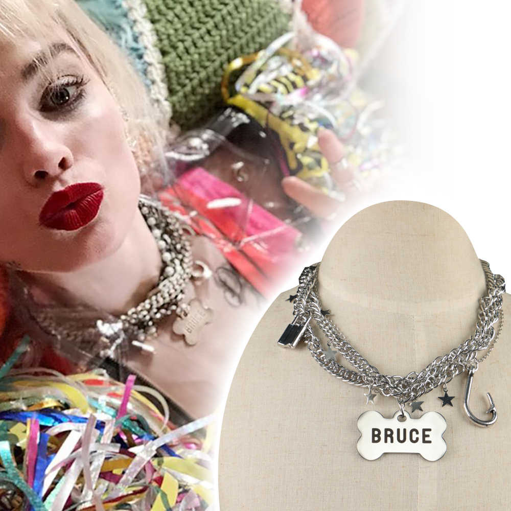 Cosplay Birds Of Prey Harley Quinn Necklace Suicide Squad Harley Quinn Accessories Costume Halloween Party Prop Aliexpress