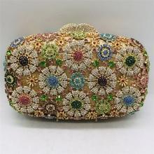 Wedding Purses Handbags Clutch Diamonds Elegant New-Design Flower Celebrity Ladies Luxury