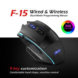 Image 4 - ZEALOT F 15 hot sale Original Dual mode Gaming Mouse 2500 DPI With Wireless Adjustable DPI