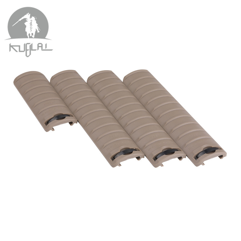 Tactical 4pcs Rail Panel Cover Handguard Protector KAC Cover For 20mm Rail Picatinny Weaver Rail