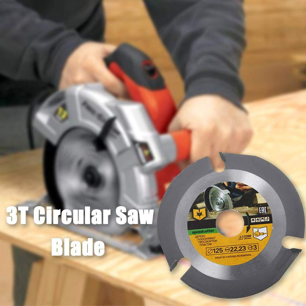 Multipurpose Cemented Carbide Material Carving Wheel 3 Teeth Wood Cutting Shaping Disc Circular Saw Blade Round Grinding Disk