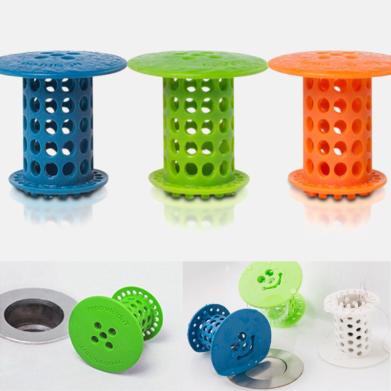 Stopper Plug Sink Strainer Bathroom Drain Hair Catcher Bath Filter Sewer Dredge Device Shower Hair Stopper Bathroom Accessories