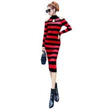 Модное Элегантное тонкое трикотажное женское платье новинка