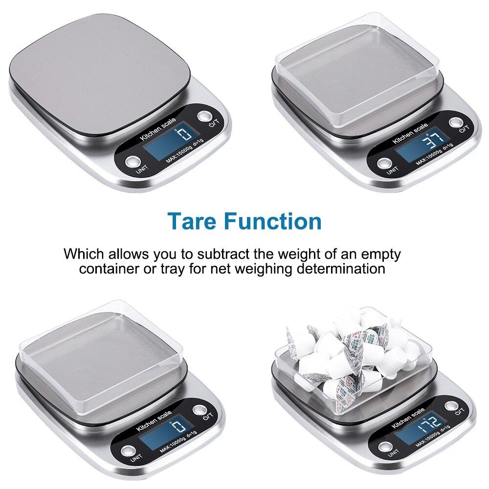 10 кг x 1 г/5kgx/0,1 г цифровые кухонные весы многофункциональные электронные весы для еды точность баланса для выпечки ювелирных изделий-1