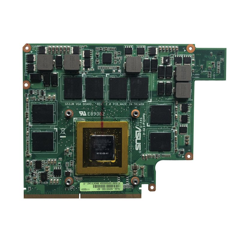 Original for Asus G73SW G73JW G53SW G53SX G53JW VX7 <font><b>Graphics</b></font> <font><b>Card</b></font> <font><b>gtx</b></font> <font><b>460</b></font> 1G N11E-GS-A1 image