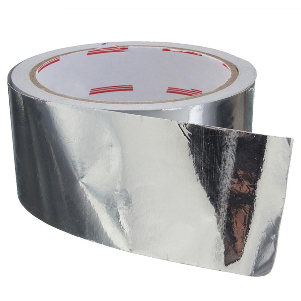 1pc Aluminium Foil Adhesive Sealing Tape Thermal Resist Duct Repairs Adhesive Tapes with High Temperature Resistance 5cmx17m