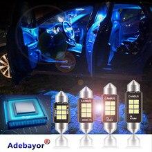 100 X Festoon 31mm 36mm 39mm 41mm C5W 6 SMD 3030 LED żarówki do wewnętrznych Lamp samochodowych Auto obudowa lampka do czytania żarówka tablicy rejestracyjnej biały