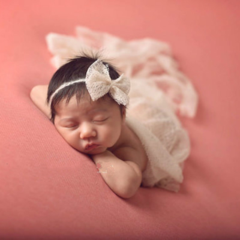 SeeTomatos 50*160CM Soft Stretch Newborn Photography Photo Shooting Baby Photo Props Newborn Swaddle Photography Accessories