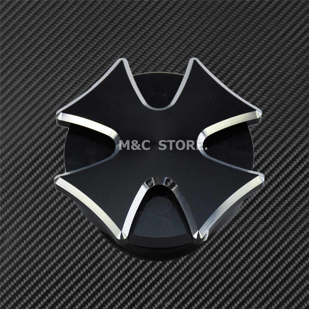 Motorrad CNC Aluminium Dekorative Öl Kappe Kraftstoff Gas Tank Abdeckung Passt Für Harley Sportster XL48 883 1200 Touring FLHR Dyna softail