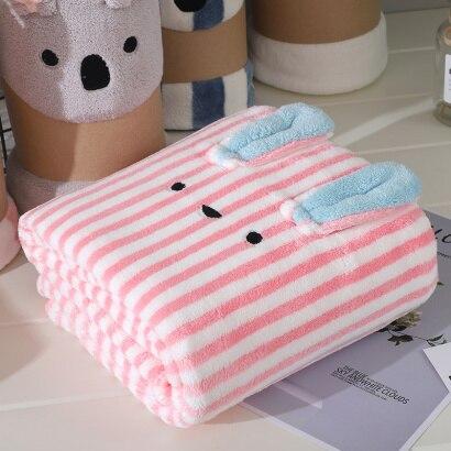 Soft baby bath towel - Striped
