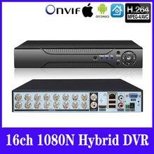 5w1 16ch * 1080N AHD DVR z kamerą wideo CCTV grabador HybridDVR dla 1080p/720 P/960 H analógico AHD CVI TVI IP