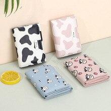 Kawaii Cow Print Wallet Women Cute Porte Feuille Femme 2021 New Cute Short Card Holder Wallet Women Coin Purse Small Wallet