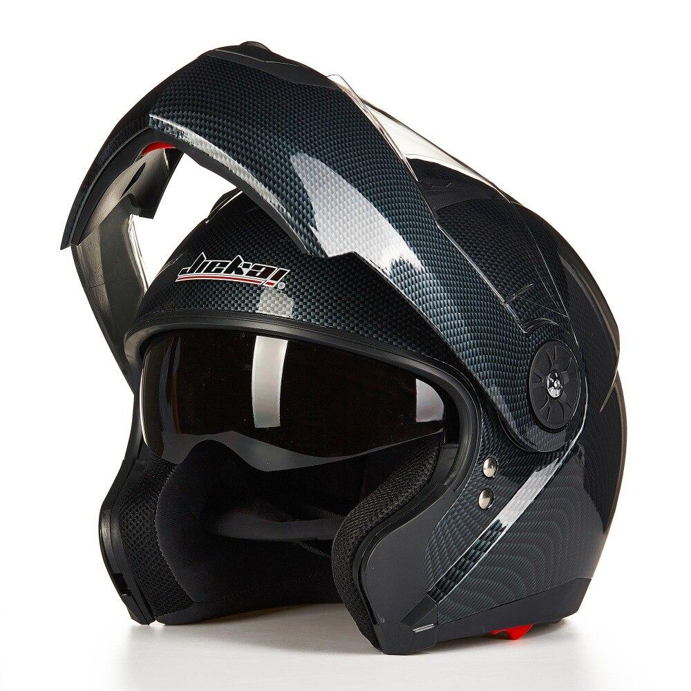 Nouveau Jiekai 115 flip up moto rcycle casque hommes moto casque double lentille course casque capacete moto cascos enlever intérieur + cadeau sac
