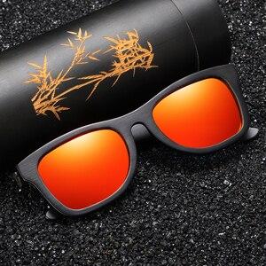 Image 4 - GM Holz Sonnenbrille Männer Marke Designer Polarisierte Fahren Bambus Sonnenbrille Holz Gläser Rahmen Oculos De Sol Feminino S1610B