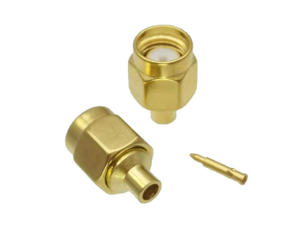 Connector SMA Male Plug Solder For Semi-rigid RG405 0.086
