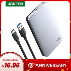 Ugreen HDD 2.5 6Gbps SATA Sang USB C 3.1 Gen 2 Ngoài Hộp Nhôm Ốp Lưng HD cho Sata Đĩa Cứng SSD HDD