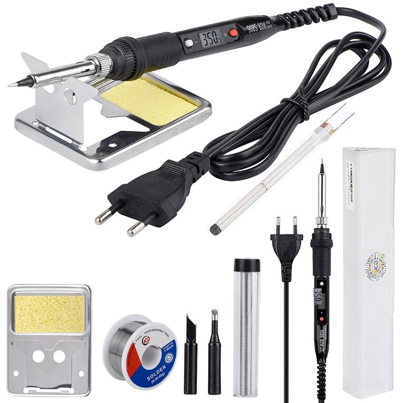 JCD 80W LCD löten eisen 220V 110V einstellbare Temperatur Schweiß Solder Reparatur werkzeug Keramik wärme lötkolben tipps kits
