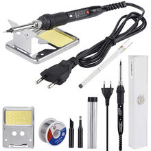JCD pistola para soldar LCD, 80W, 220V, 110V, temperatura ajustable, herramienta de reparación de soldadura, puntas de pistola para soldar de calor de cerámica