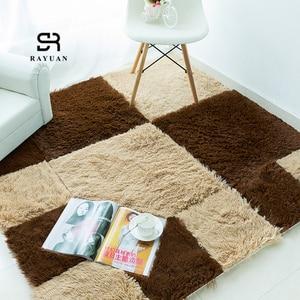 RAYUAN 9 sztuk układanka do samodzielnego złożenia mata z pianki EVA kosmków dywan z długim włosiem Playmat pluszowe ciepłe miękkie obszar dywan dzieci mata do zabawy dla dzieci 30x30CM