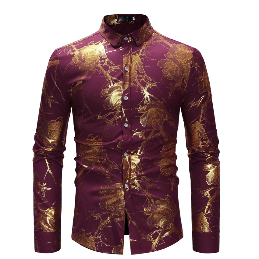 2019 New African Dresses For Men Dashiki Print Rich Bazin Fashion Man's Top Long Sleeve Shirt Dress Africa Clothing S-XL