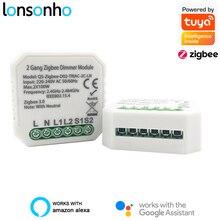 Lonsonho Tuya Smart Zigbee Dimmer Switch Module 1 2 Gang 220