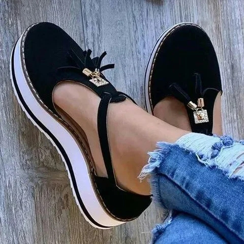 Hot DealsFemale Shoes Fringe-Spring Tassels Sole Gift Thick Fashion Summer Women for Girls