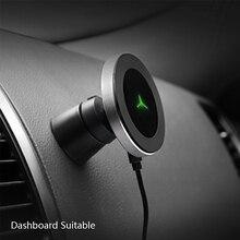 צ י אלחוטי מטען לרכב עבור סמסונג S9 S8 Note9 מגנטי טלפון מחזיק 10W מהיר רכב אלחוטי מטען עבור iPhone xs XsMax Xr 8 בתוספת