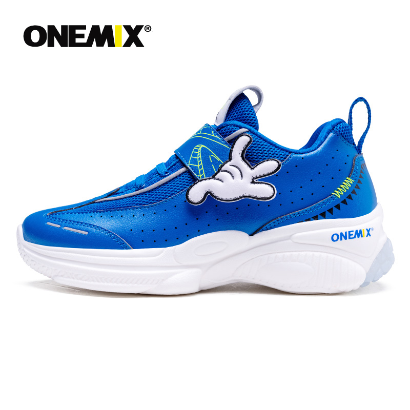ONEMIX 2020 New Arrival Orthopedic Shoes For Children With Arch Support Corrective Leather Sneakers For Boys Running Shoes