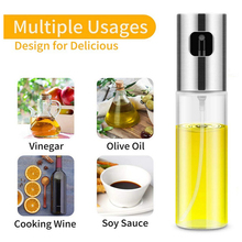 100ML Oil Spraye Stainless Steel Bottle Leakproof Seasoning Kitchen Outdoor Barbecue Olive Glass Storage Containers