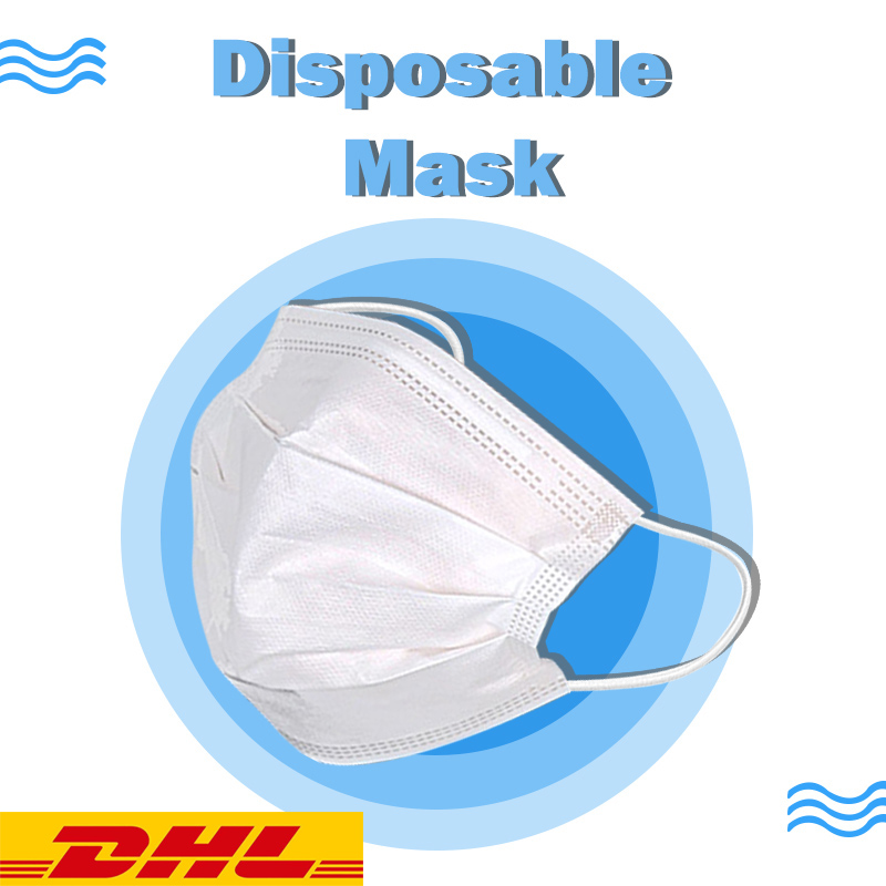 100pcs DHL Fast Shipping 3 Layers Disposable Mask Anti Pollution Mask Black Adult Unisex Protection Fabric Dust Mouth Mask
