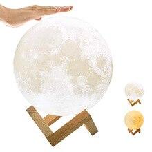 Meijuner Night Lights 3D Print Rechargeable Moon La