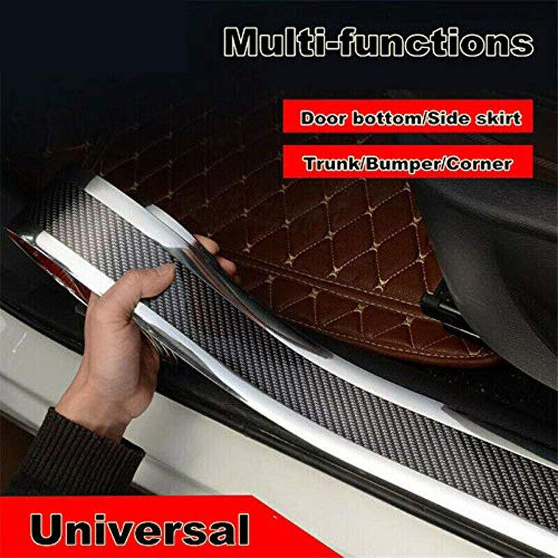 Car Door Sill Stickers Anti-Scratch Door Edge Guard Carbon Fiber Rubber Mouldings Strip Trim Bumper Car Styling Accessories