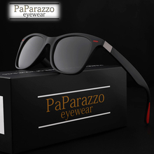 PaPa NEW DESIGN Ultralight TR90 Polarized Sunglasses Men Women Driving Square Style Sun Glasses Male Goggle UV400 Gafas De Sol