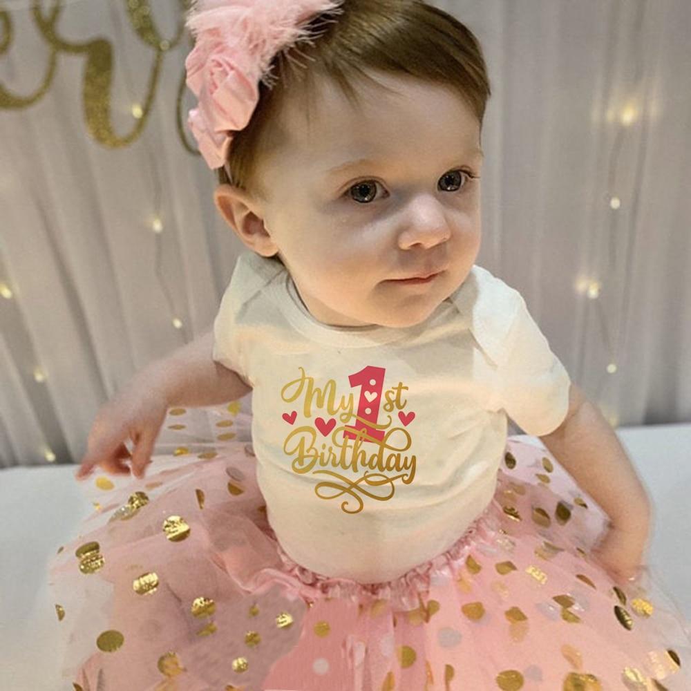 Bebê verão menina vestido primeiro 1st bolo de aniversário quebra roupas 2 pçs conjuntos macacão tutu infantil bebê meninas ternos