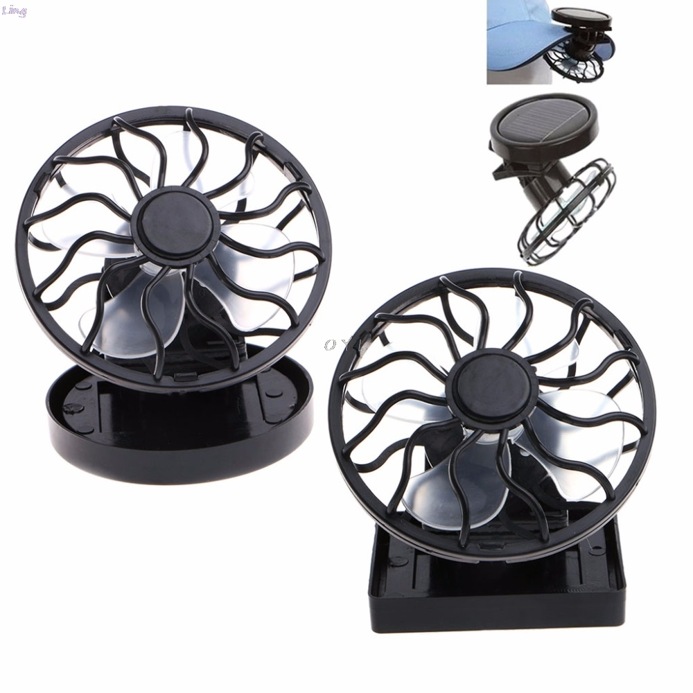 Solar Panel Powered Mini Portable Clip On Cooling Fan For Travel Camping Fishing|Fans| |  -