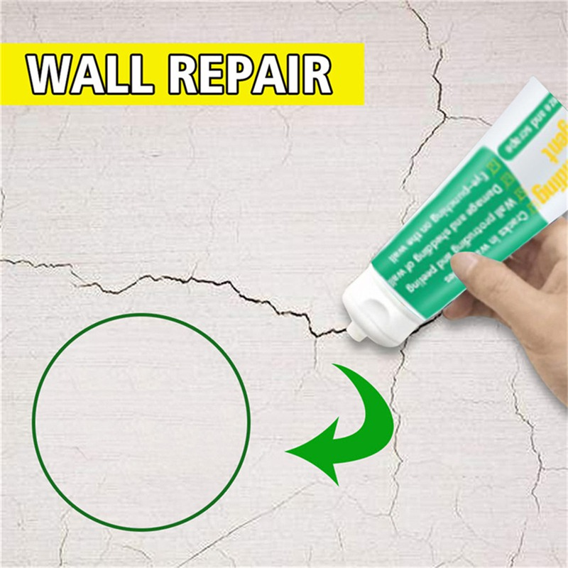 100ml Valid Mould Proof Wall Mending Agent Wall Repair Cream Wall Crack Nail Repair Quick-Drying Patch Restore Treatment Supply