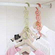 Hanger Storage Rack Multiple Layers Wardrobe Clothes Hanging Space Saving Four Holes Home MU8669