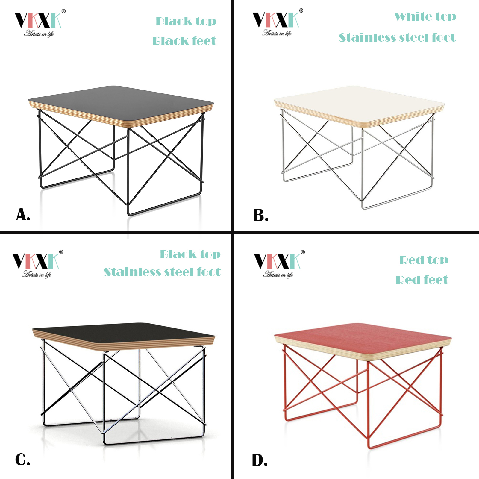 Купить с кэшбэком Hot Sales Tea Table Wire Base Simple Ltr End Table Modern Small Coffee Table For Living Room Sofa Side Table