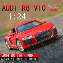 welly 1:24 Audi R8 V10   car alloy car model simulation car decoration collection gift toy Die casting model boy toy все цены