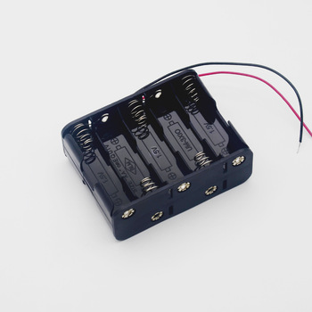 MasterFire 500pcs/lot 10 X 1.5V AA Back to Back Plastic Battery Holder 15V Batteries Storage Box Case Double With Wire Leads