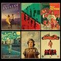 Винтаж, классическое кино Beetlejuice/криминальная фантастика/паразиты, ретро постер, крафт-бумага, высокое качество, домашняя комната, Художест...