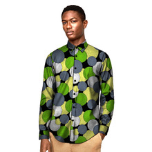 African clothing mens shirt custom made men casual Ankara outfit print shirts groom