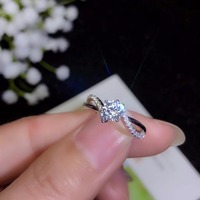 Moissanite 925 real silver high density gemstones comparable to diamonds resizable rings for women 2