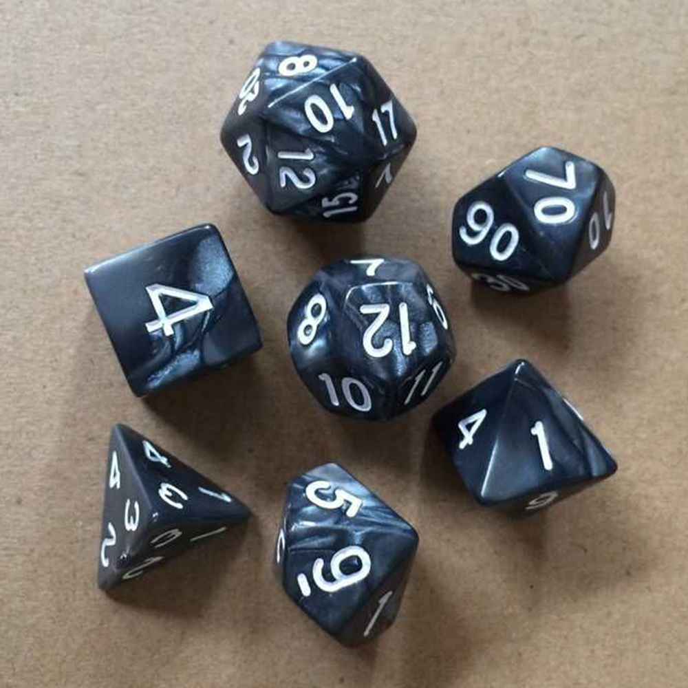 Liplasting 7pcs/Set Game Multi Sides Dices Game Playing Mixed Color 4 6 8 10 12 20 Sided Dice For Parties TRPG Gamer