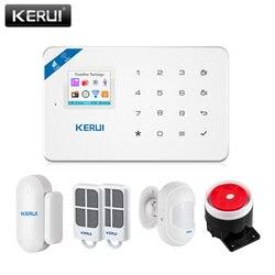 KERUI W18 WiFi inalámbrica GSM sistema de alarma de seguridad para el hogar Android IOS APP Control sistema de alarma antirrobo con Mini PIR Sensor de movimiento
