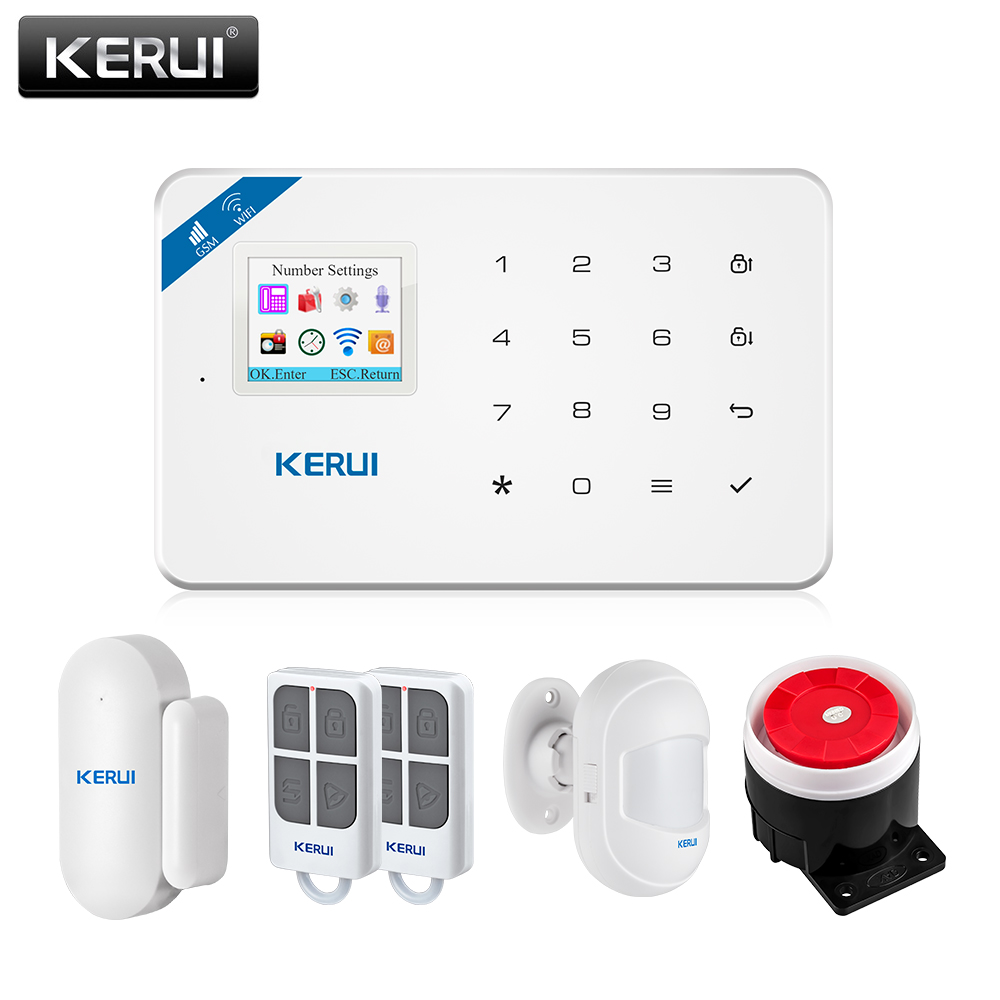 KERUI W18 Wireless WiFi GSM Home Security Alarm System Android Ios APP Control Burglar Alarm System With Mini PIR Motion Sensor